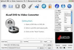 4Leaf DVD to Video Converter