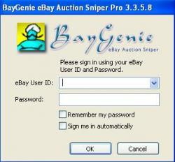 BayGenie eBay Auction Sniper