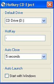 Hotkey CD Eject