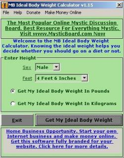 MB Free Ideal Body Weight Calculator