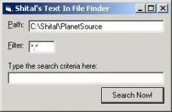 Text In File Search