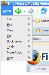 Tiny Menu for Firefox